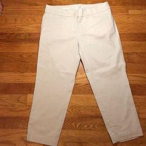 Loft Crop NWOT Light Tan 97%cotton 3% Spandex